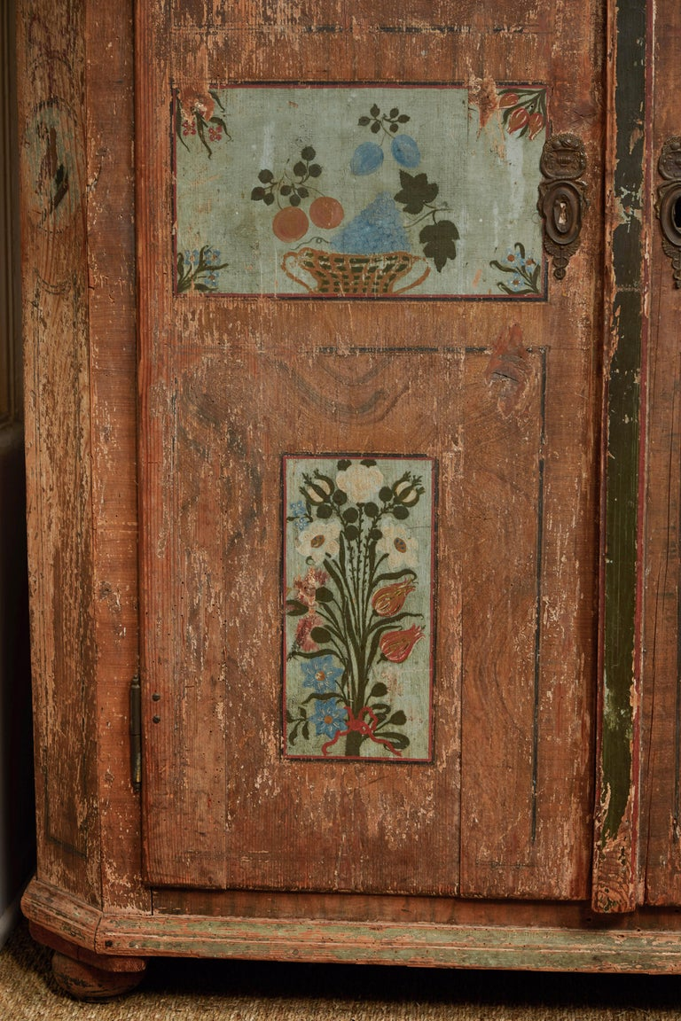 Hand-Crafted Antique Italian Armoire For Sale