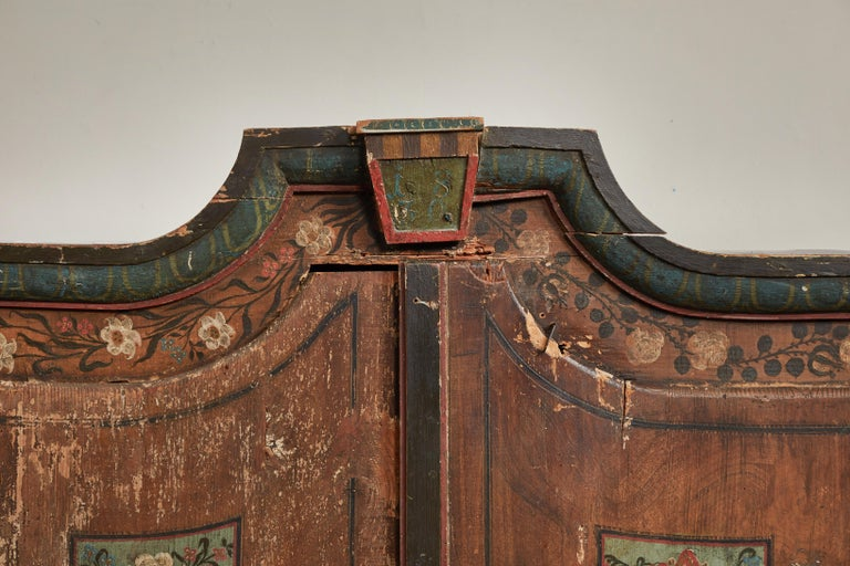 Hardwood Antique Italian Armoire For Sale