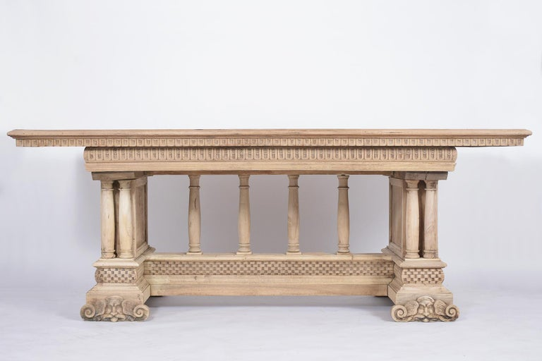 19th Century Antique Italian Baroque Dining Table For Sale