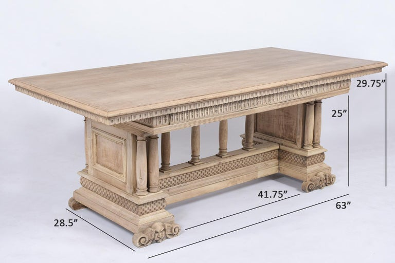Antique Italian Baroque Dining Table For Sale 2