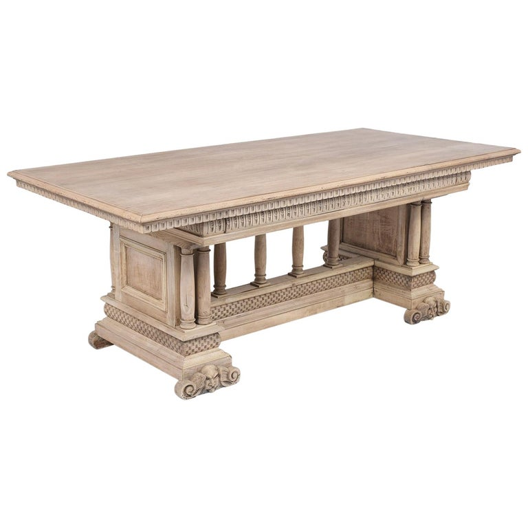 Antique Italian Baroque Dining Table For Sale