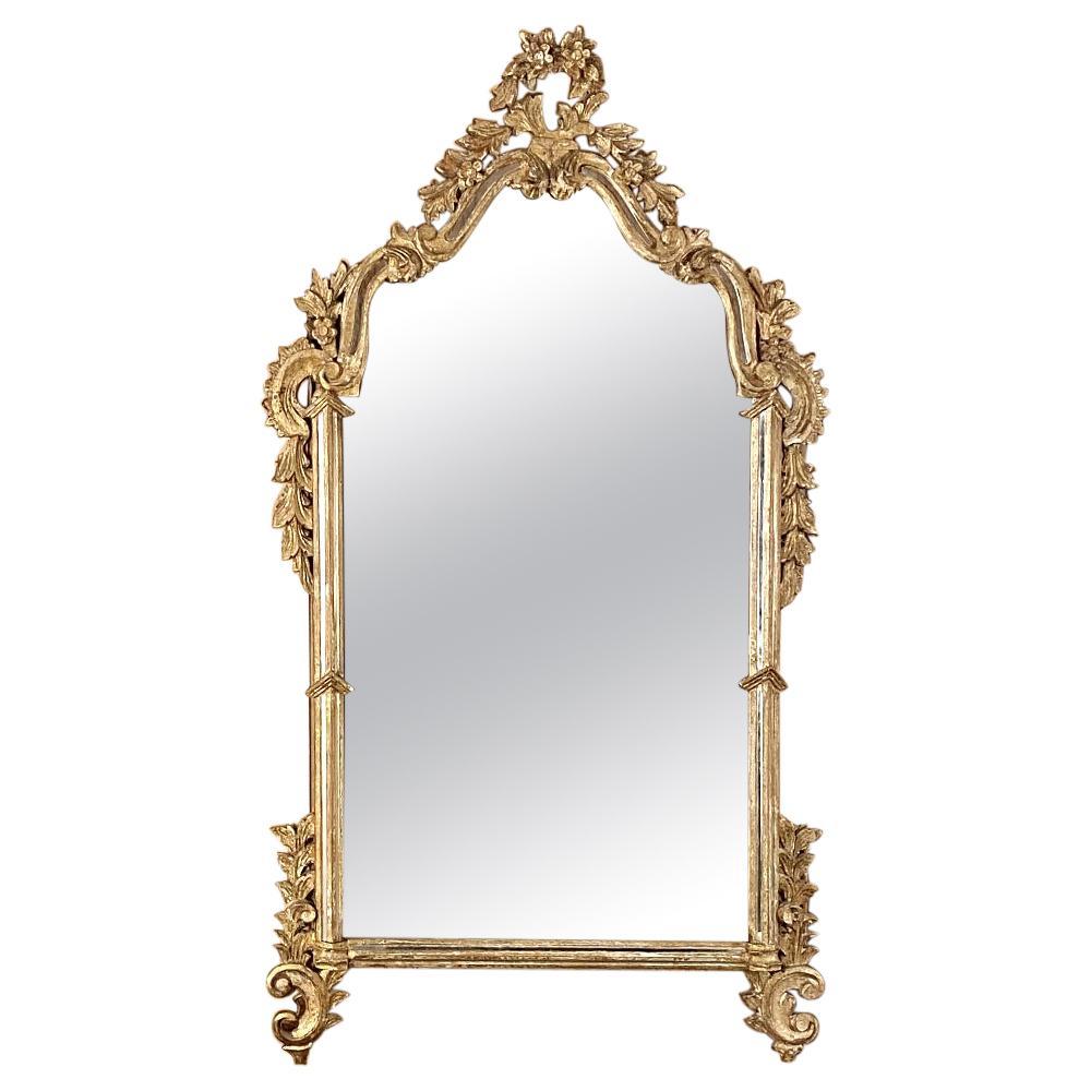 Antique Italian Baroque Giltwood Mirror