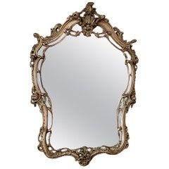 Antique Italian Baroque Painted Mirror