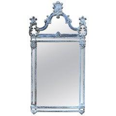 Antique Italian Baroque Silvered Mirror