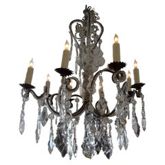 Antique Italian Beaded and Crystal Chandelier