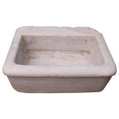 Antique Italian Carrara Marble Basin