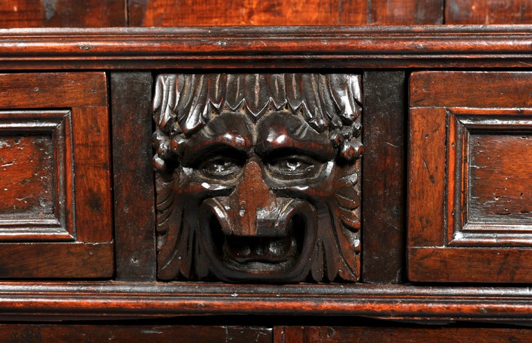 Antique Italian Carved Walnut Renaissance Revival Bookcase, circa 1870 For Sale 6