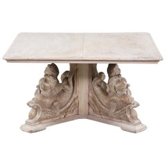 Antique Italian Carved Wood Coffee Table