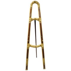 Antique Italian Carved Wood Easel Gold Gilt French Art Painting Stand Display