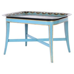 Antique Italian Chinoiserie Tole Tray Table