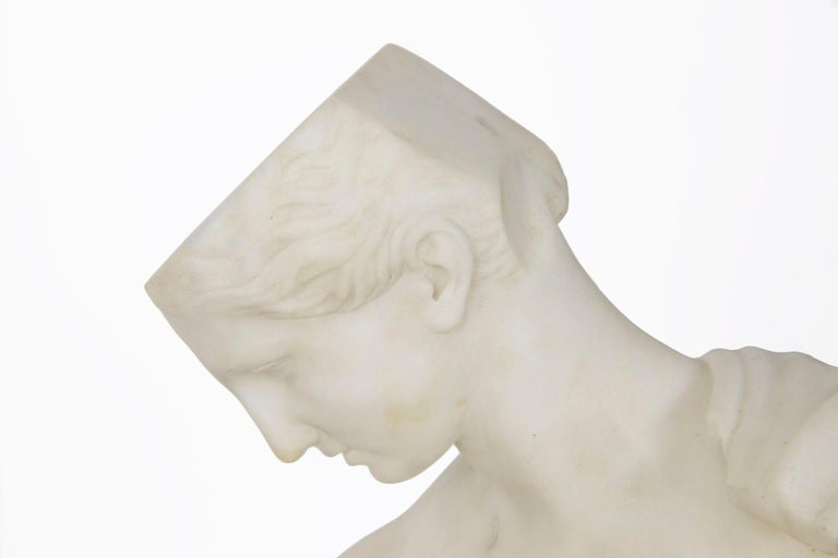 "Antique Italian Classical Marble Sculpture ""Psyche of Capua"", Naples, circa 1866 For Sale 5"