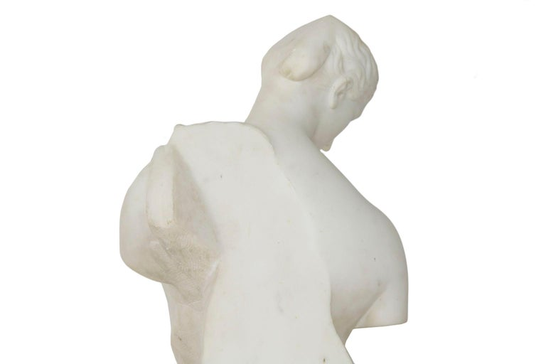 "Antique Italian Classical Marble Sculpture ""Psyche of Capua"", Naples, circa 1866 For Sale 9"