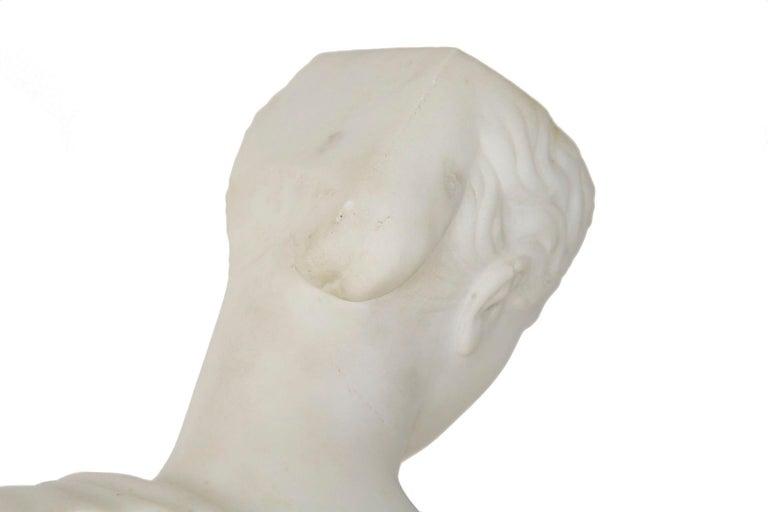 "Antique Italian Classical Marble Sculpture ""Psyche of Capua"", Naples, circa 1866 For Sale 11"