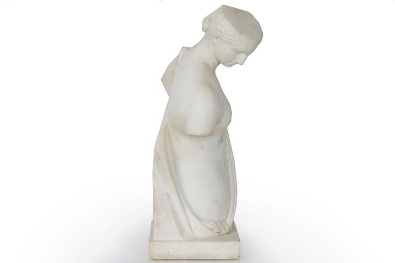 "Antique Italian Classical Marble Sculpture ""Psyche of Capua"", Naples, circa 1866 For Sale 12"