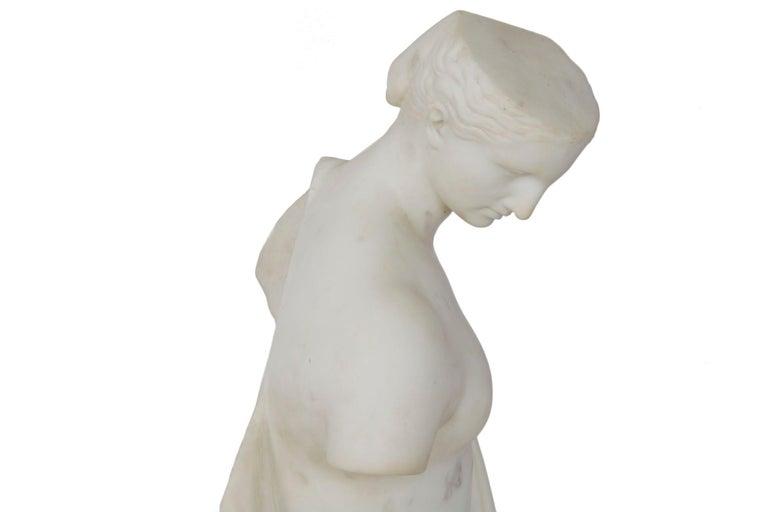 "Antique Italian Classical Marble Sculpture ""Psyche of Capua"", Naples, circa 1866 For Sale 13"