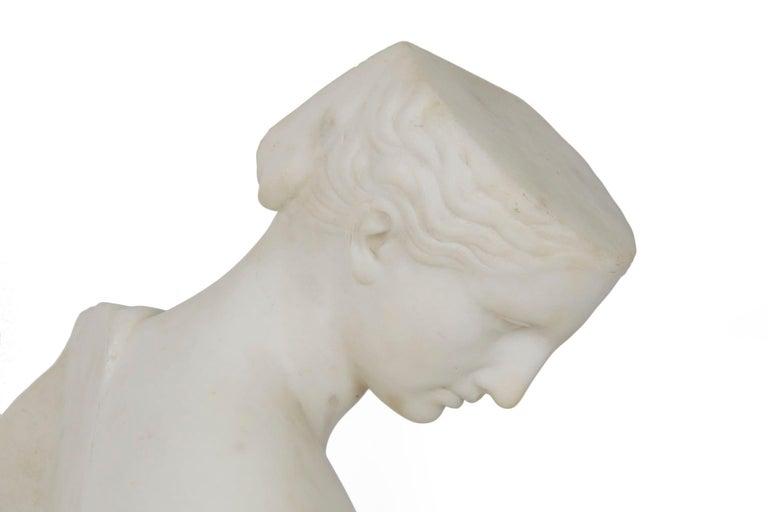 "Antique Italian Classical Marble Sculpture ""Psyche of Capua"", Naples, circa 1866 For Sale 14"