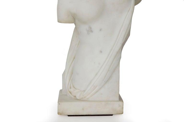 "Classical Greek Antique Italian Classical Marble Sculpture ""Psyche of Capua"", Naples, circa 1866 For Sale"
