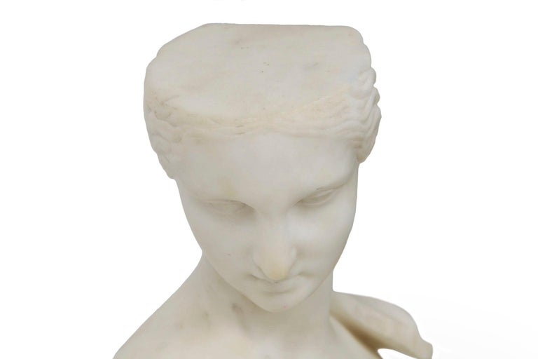 """Antique Italian Classical Marble Sculpture """"Psyche of Capua"""", Naples, circa 1866 In Good Condition For Sale In Shippensburg, PA"""