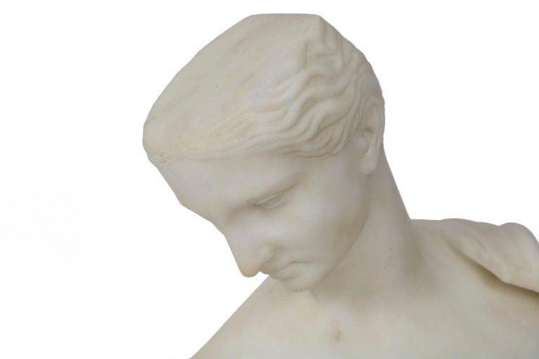 "19th Century Antique Italian Classical Marble Sculpture ""Psyche of Capua"", Naples, circa 1866 For Sale"