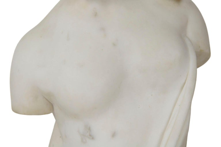 "Antique Italian Classical Marble Sculpture ""Psyche of Capua"", Naples, circa 1866 For Sale 1"