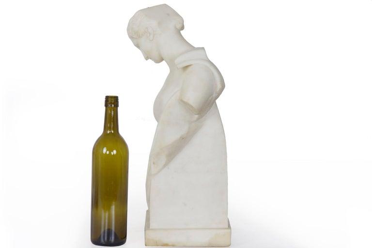 "Antique Italian Classical Marble Sculpture ""Psyche of Capua"", Naples, circa 1866 For Sale 2"