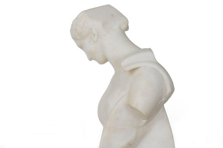 "Antique Italian Classical Marble Sculpture ""Psyche of Capua"", Naples, circa 1866 For Sale 3"