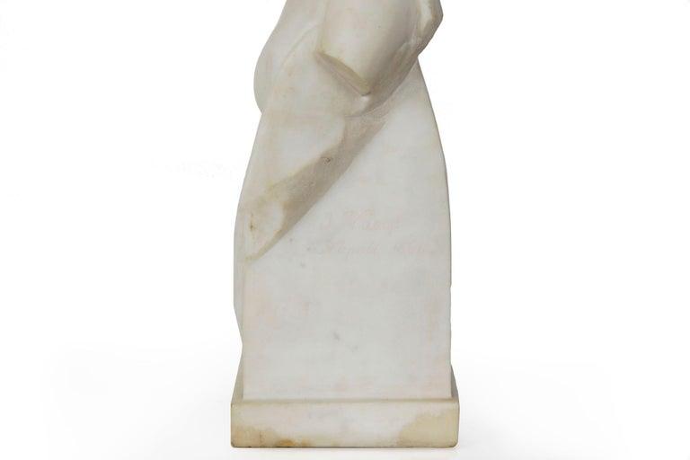 "Antique Italian Classical Marble Sculpture ""Psyche of Capua"", Naples, circa 1866 For Sale 4"