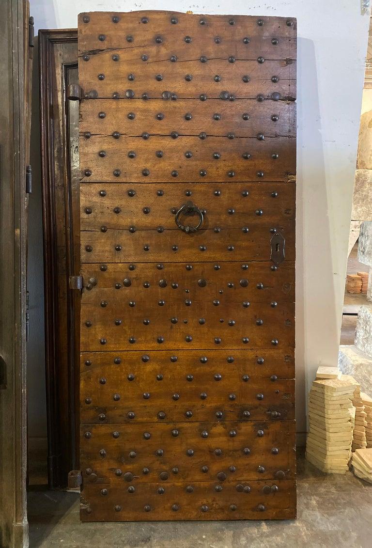 Antique Italian Door, circa 17th Century In Good Condition For Sale In Dallas, TX