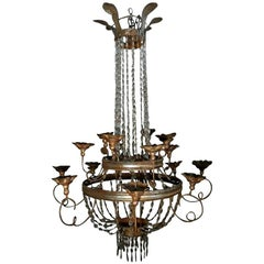 19th Century Empire Chandelier