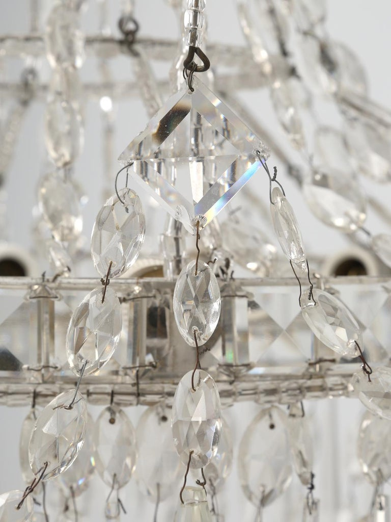 Antique Italian Empire Style Chandelier from Milan, with Letter of Authenticity  For Sale 7