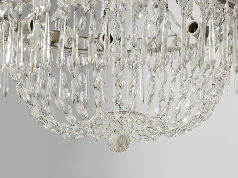 Antique Italian Empire Style Chandelier from Milan, with Letter of Authenticity  For Sale 10