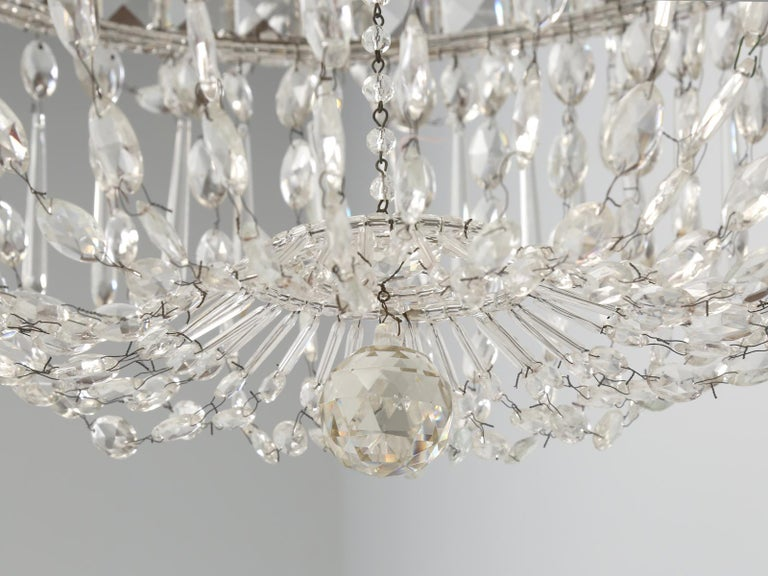 Antique Italian Empire Style Chandelier from Milan, with Letter of Authenticity  For Sale 11