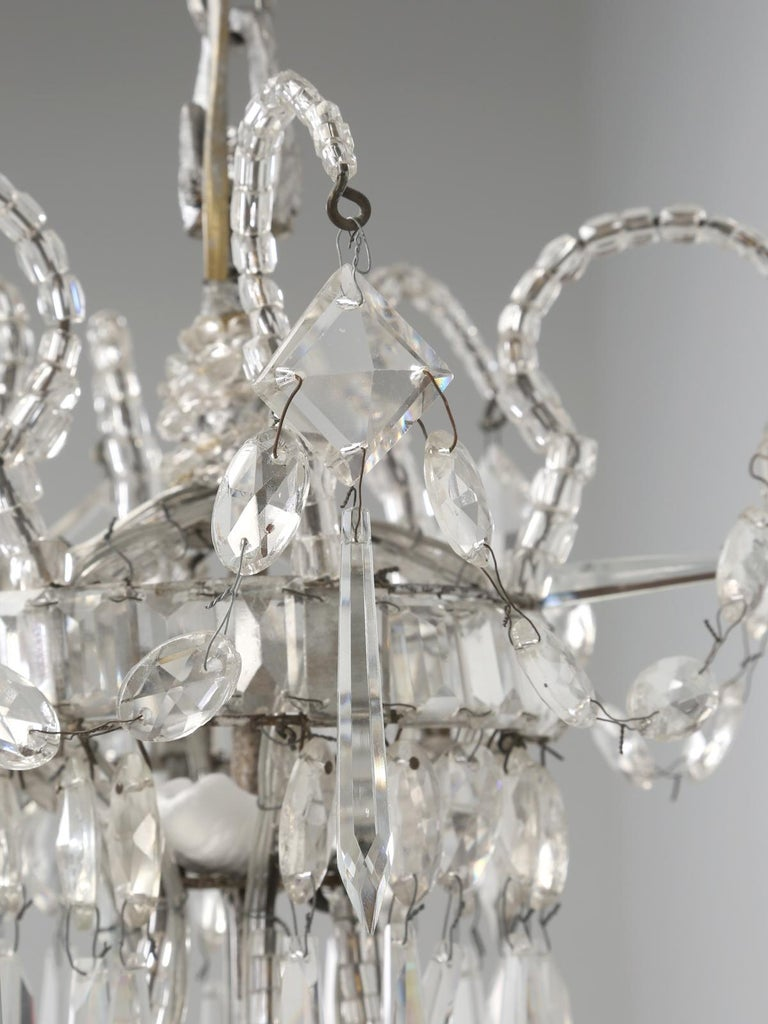 Antique Italian Empire Style Chandelier from Milan, with Letter of Authenticity  In Good Condition For Sale In Chicago, IL