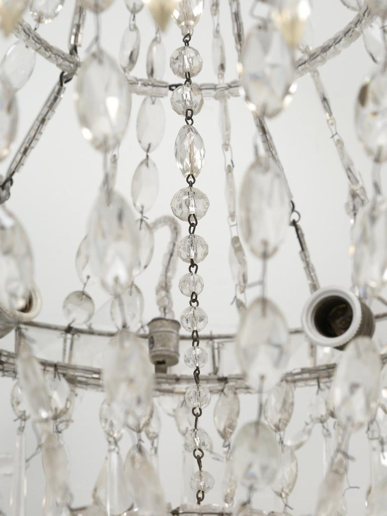 Antique Italian Empire Style Chandelier from Milan, with Letter of Authenticity  For Sale 1
