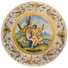 Antique Italian Faience Charger