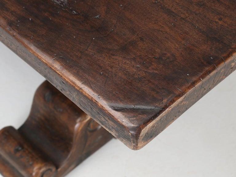 Antique Italian Farm Table or Italian Trestle Dining Table, circa 1800s 3