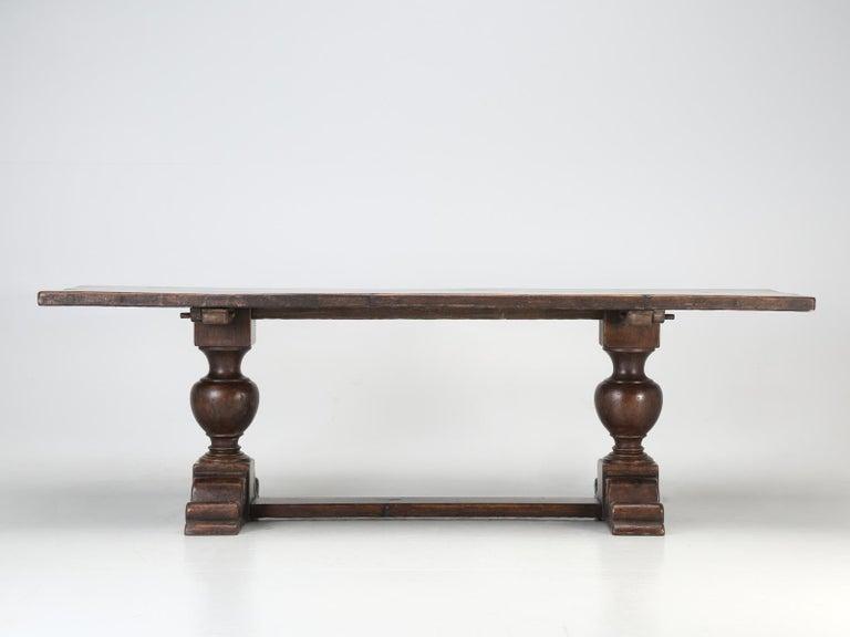 Antique Italian Farm Table or Italian Trestle Dining Table, circa 1800s 4