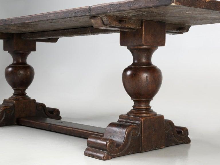 Antique Italian Farm Table or Italian Trestle Dining Table, circa 1800s 5