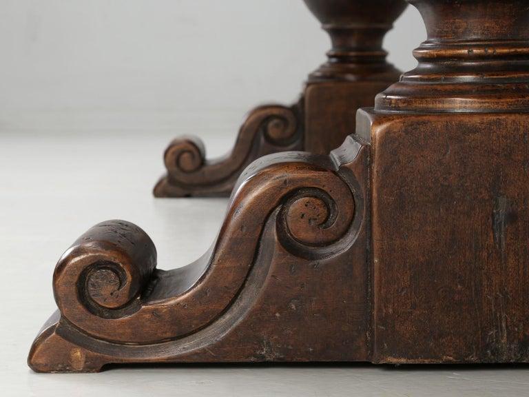 Antique Italian Farm Table or Italian Trestle Dining Table, circa 1800s 9