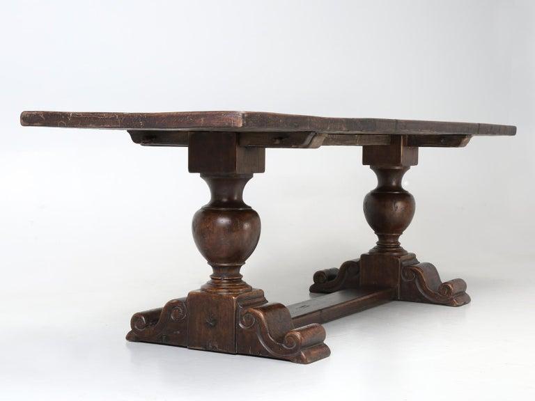 Antique Italian Farm Table or Italian Trestle Dining Table, circa 1800s 11