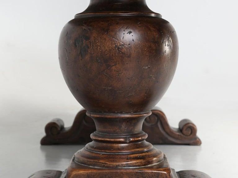 Antique Italian Farm Table or Italian Trestle Dining Table, circa 1800s 12