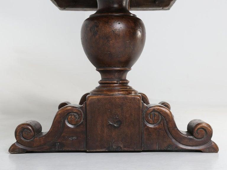 Antique Italian Farm Table or Italian Trestle Dining Table, circa 1800s 13