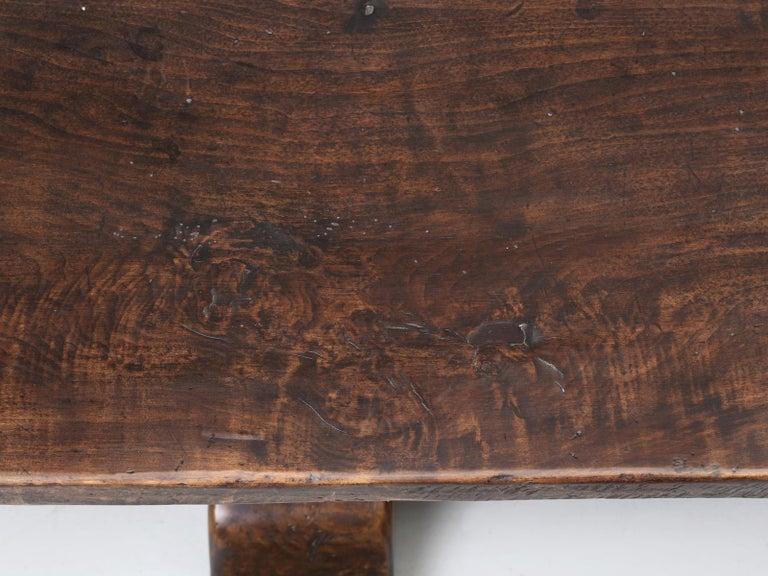 Hand-Crafted Antique Italian Farm Table or Italian Trestle Dining Table, circa 1800s