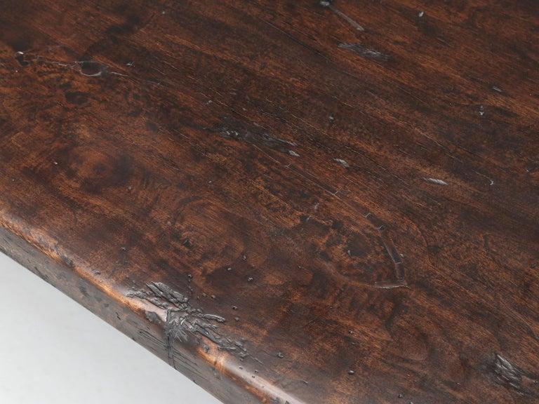 Antique Italian Farm Table or Italian Trestle Dining Table, circa 1800s 2