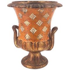 Antique Italian Florentine Ceramic Vase Accent Lamp