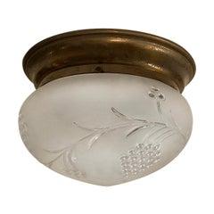 Antique Italian Flushmounted Light Fixture
