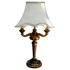 Antique Italian Giltwood Lamp