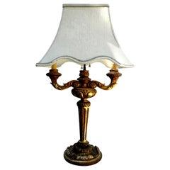 Antique Italian Giltwood Lamp