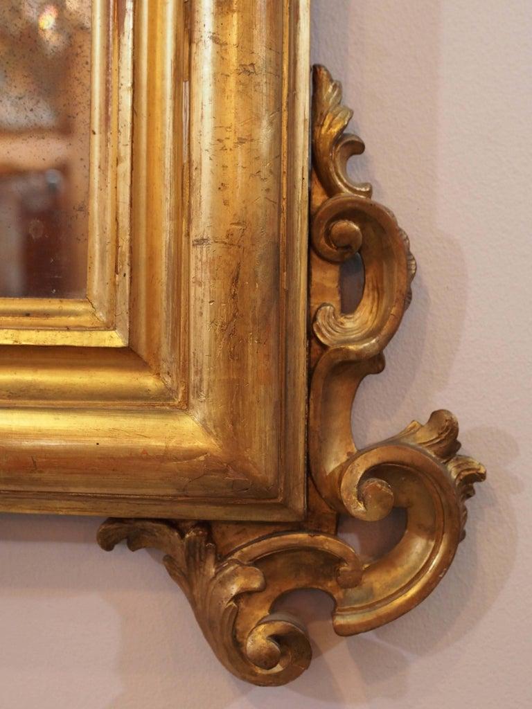 Antique Italian Giltwood Mirror For Sale 2