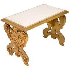 Antique Italian Giltwood Stool
